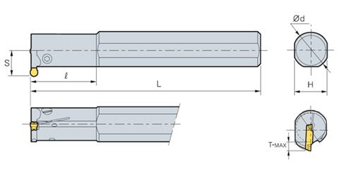 Державка канавочная MGIVR 3732-6A RT