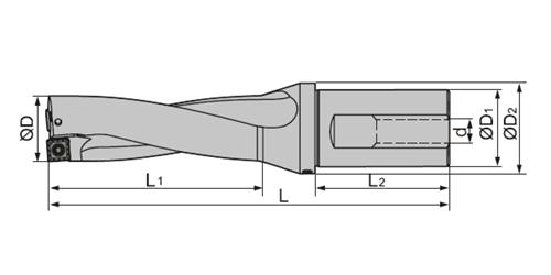 Сверло ZTD02-440-XP40-SP14-02 RT со сменными пластинами